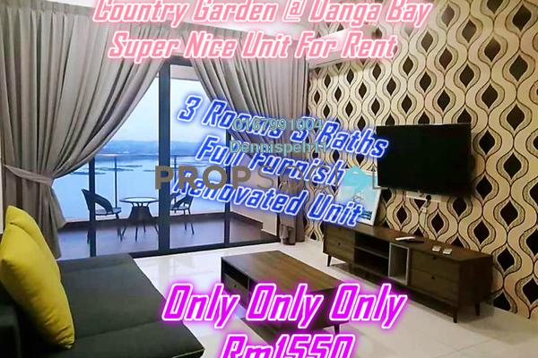 Condominium For Rent in Country Garden Danga Bay, Danga Bay Freehold Fully Furnished 3R/3B 1.55k