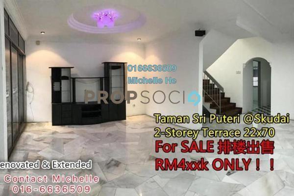 Terrace For Sale in Taman Sri Skudai, Skudai Freehold Semi Furnished 4R/3B 495k